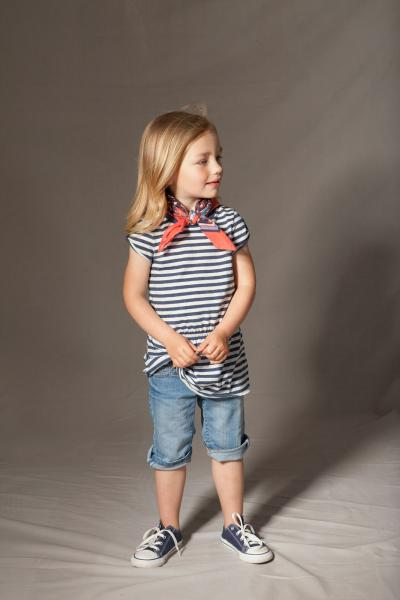 Girl in striped top and bandana