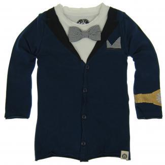 Shatsu Blue Tuxedo Tee Shirt