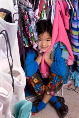 girl in closet