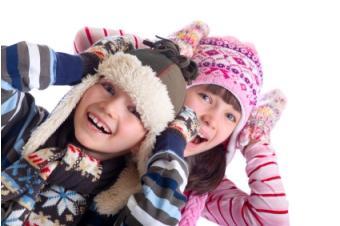 girls in winter hats