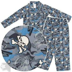 skull pajamas for boys