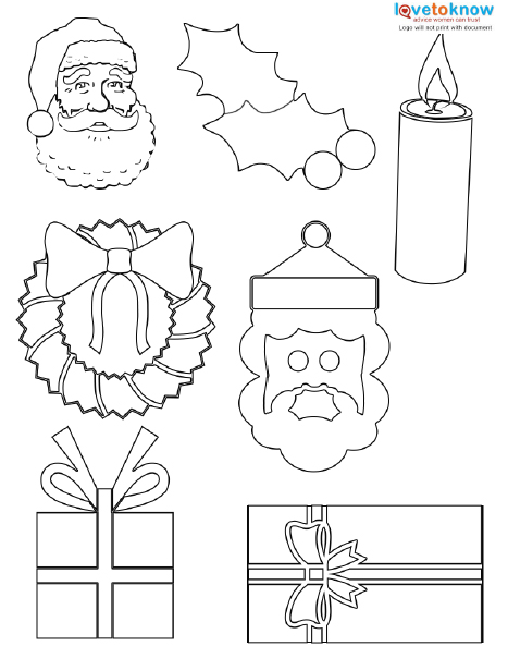 It's just a photo of Mesmerizing Printable Christmas Decorations ( Cutouts)