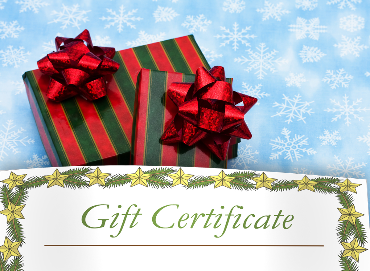 Printable Christmas Gift Certificates Lovetoknow