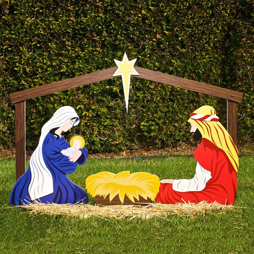 outdoor nativity set - Religious Christmas Decorations To Make