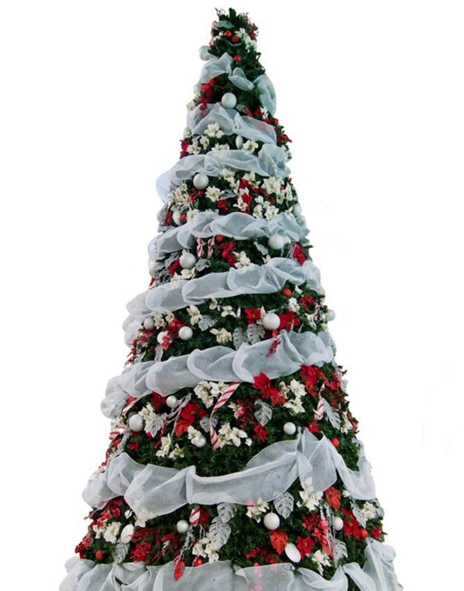 waterfall effect with ribbon - Photos Of Christmas Trees Decorated With Ribbon