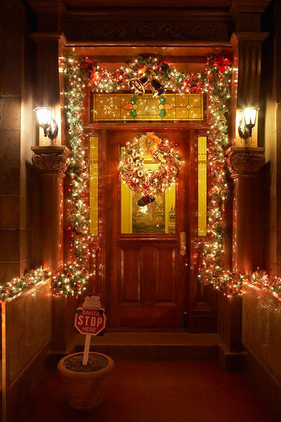 Christmas Decorations Around Front Door
