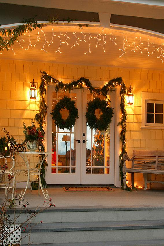 festive christmas entrance door