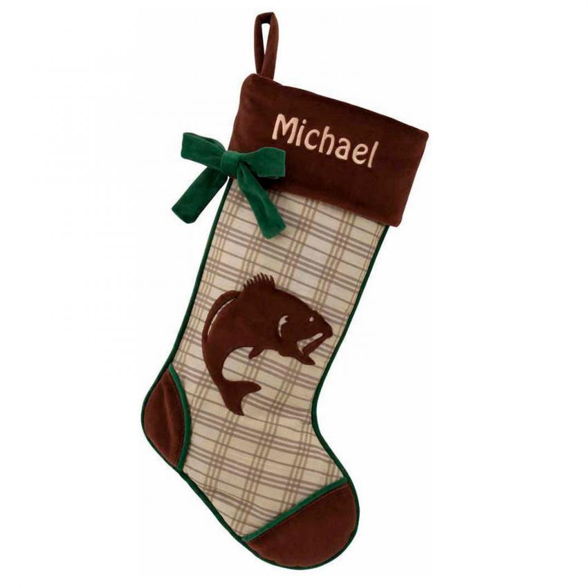 personalized rustic christmas stocking - Rustic Christmas Stocking