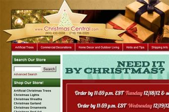 Christmas Central website