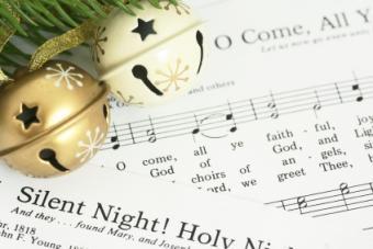 sheet music for Christmas carols