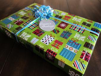 finished gift wrap