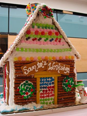 Gingerbread House - Santa's Workshop, photo courtesy Shihmei Barger
