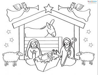 Printable Nativity Scenes 1