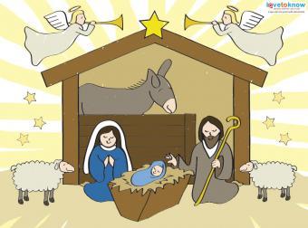 Printable Nativity Scenes 1 in color