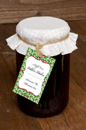 jar with Christmas gift tag