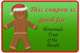 homemade treat of the month coupon