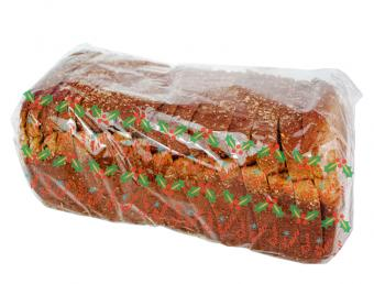 christmas wrapped bread