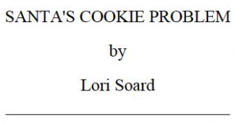 Santa's Cookie Problem