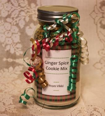 jar with Christmas gift label