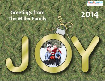 Free Printable Photo Christmas Cards for the Holidays