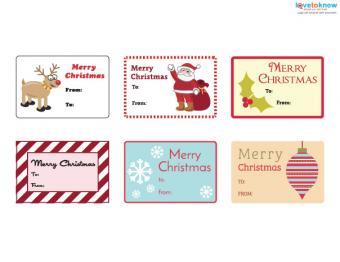 6 Free Printable Christmas Gift Tags