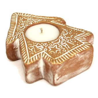 Terracotta Christmas Tree Candle