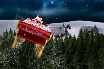 Santa in his sleigh; © Wavebreakmedia Ltd | Dreamstime.com