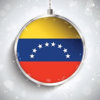 Silver ball with Venezuelan flag