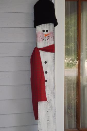 Fence Picket Snowman