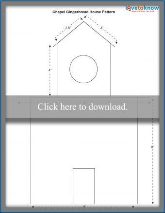Gingerbread house chapel pattern