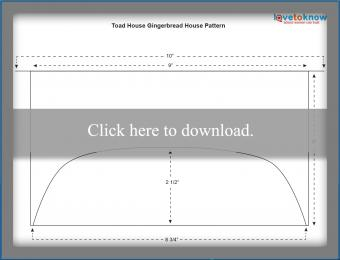 Toad House Gingerbread House Pattern