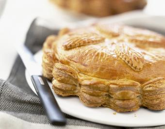 Galette des Rois almond flaky pastry cake
