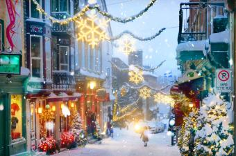 Christmas Street Decorations in Quebec