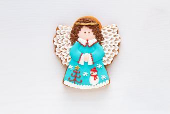 christmas homemade gingerbread angel
