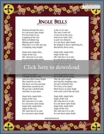 Christmas Carol Jingle Bells lyrics