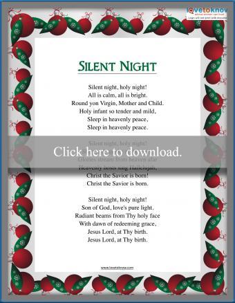 Christmas Carol Silent Night Lyrics