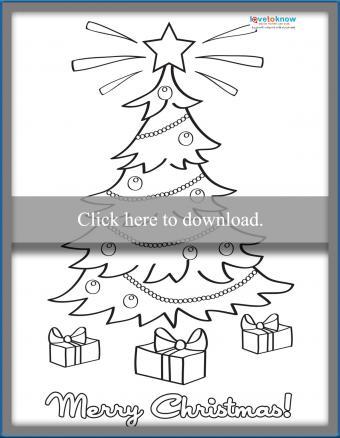 printable christmas tree card
