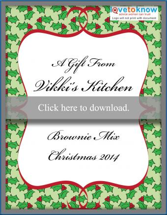 Customizable holiday food gift label