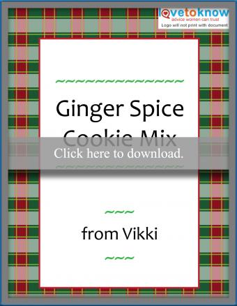 Customizable Christmas food gift label