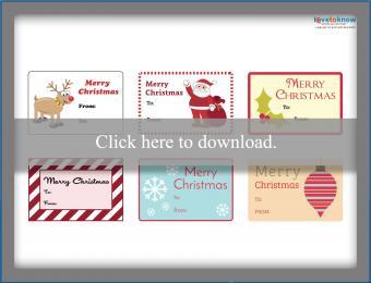 Printable holiday tag variety sheet