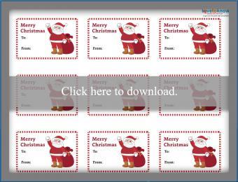 Santa Christmas Gift Tags