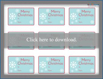 Printable snowflake Christmas gift tags
