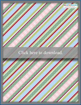 Striped Christmas scrapbook paper