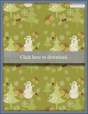 Snowman scrapbook paper