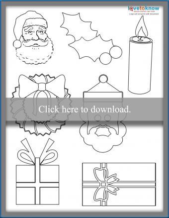 Christmas Shapes printable PDF