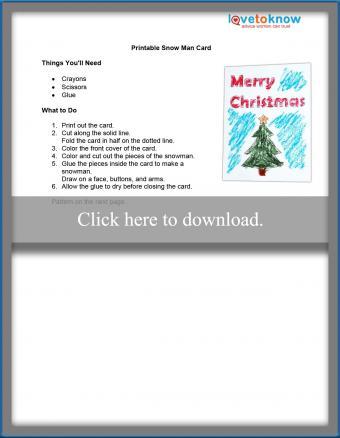 Snowman Christmas card craft