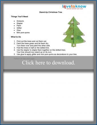 Stand Up Christmas Tree Thumb