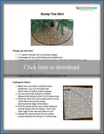 Burlap tree skirt pattern