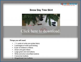 Snow Day Tree Skirt Printable