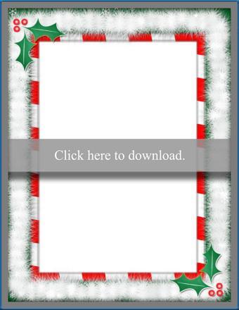 Christmas Border Template